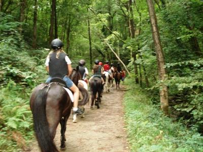 Ruta a caballo en Sastarrain y clase equitación 1h