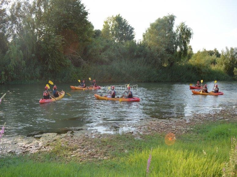 Ruta en piragua por el rio