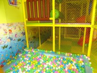 Colored ball pool