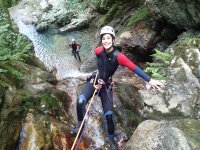 Getting off by rappelling