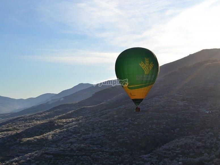 Paseo en globo por sierra de Cáceres