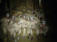 The team of recent cavers