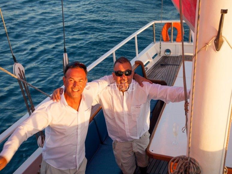 Pasajeros en el barco