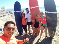 Initiation course to surf