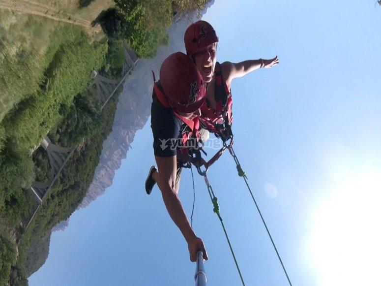 Vertiginous jump