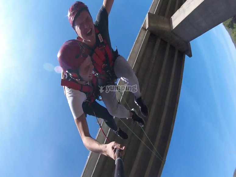 An exhilarating bungee jump