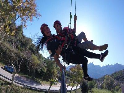 Bungee jumping tandem a Montserrat