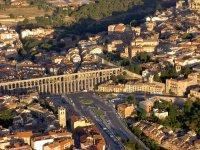 Vista aerea del acueducto de Segovia