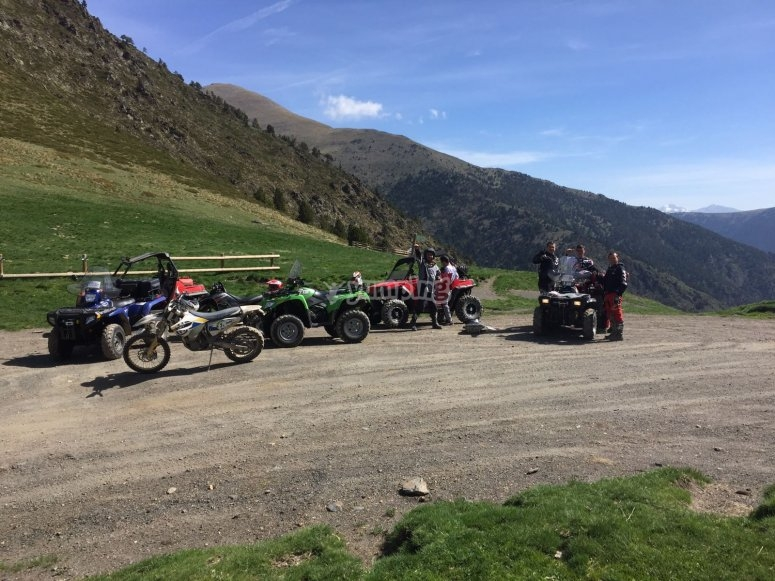 Route in the Pyrenees of Andorra