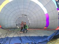 While the balloon deflates
