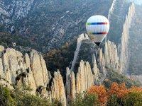 在Anoia进行气球飞行