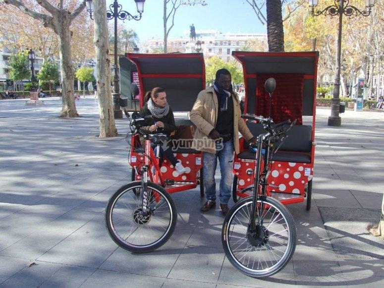 Triciclo en parque de Sevilla