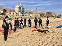 Clase de Surf en grupo