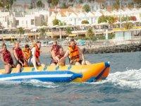 Diversion a bordo de la banana boat