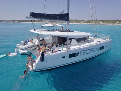 Catamaran trip in Ibiza and Formentera 8 h