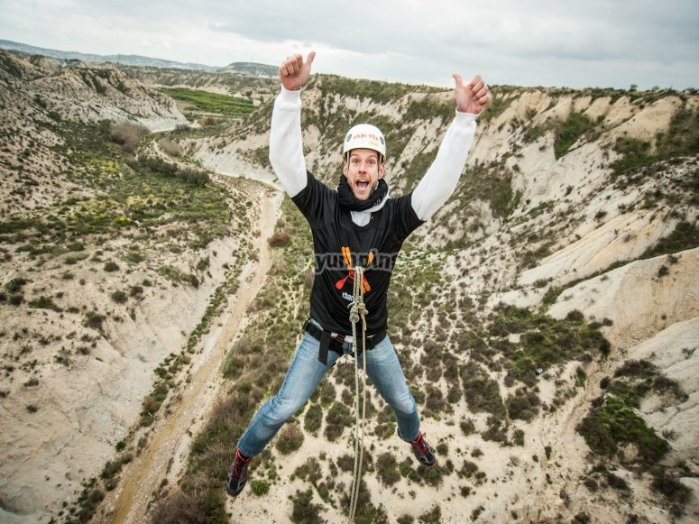 Stag party with bungee jumping