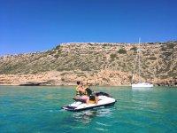 Moto de agua de Cala Blava a Cala Pi con GoPro 2h