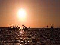 Excursión kayak puesta de sol