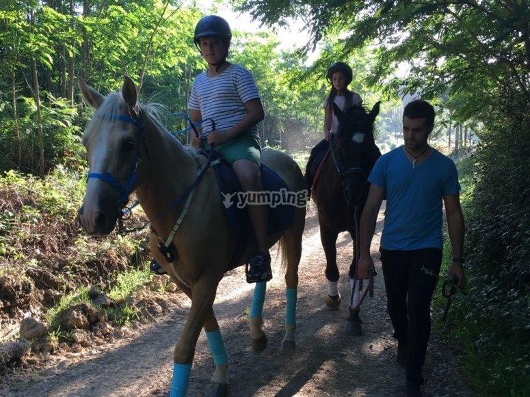 Passeggiate a cavallo per bambini