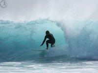 Enn the tube of the wave