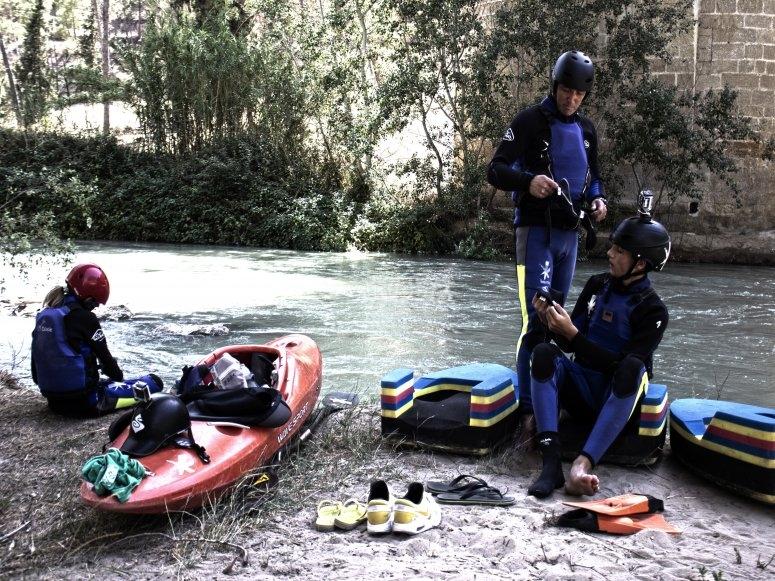 Paseo con hidrospeed por el río Genil