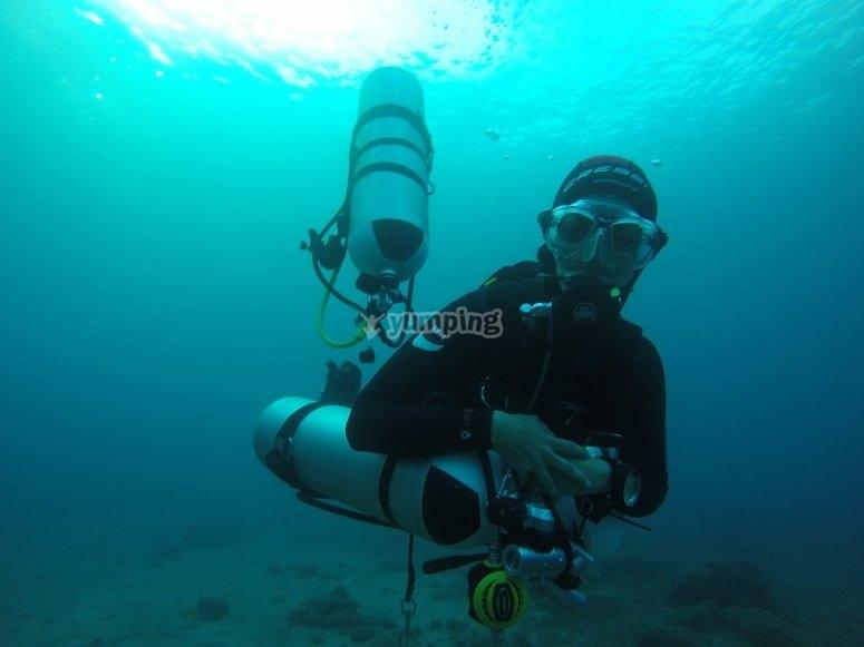 Experiencia de buceo en Las Palmas