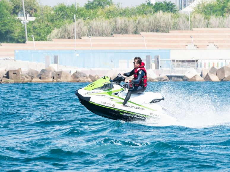 Jet skis in the port