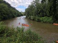 Canoe durante la discesa del Sella