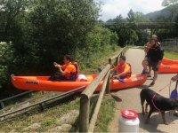 Inizia la discesa del Sella in canoa