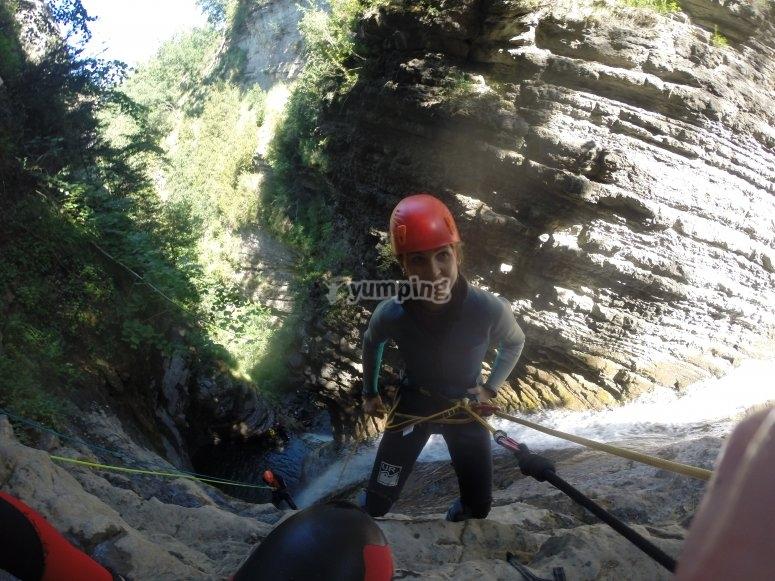 Foto antes del descenso