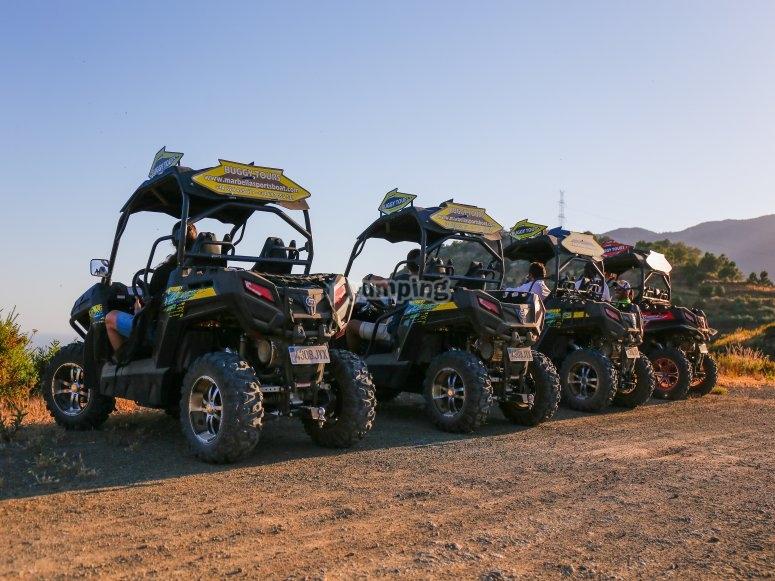 Listos para una ruta en buggy por Ojén