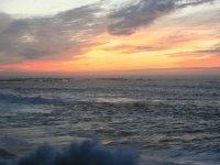 日落时的大海