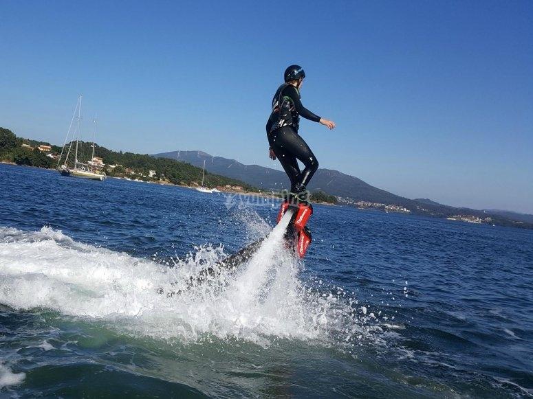 Enjoy flyboarding