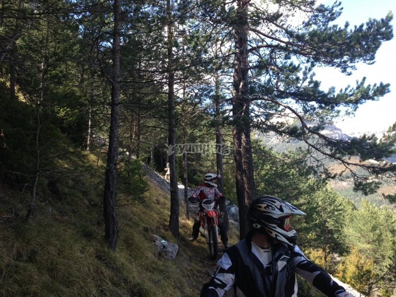 Route on your enduro motorcycle