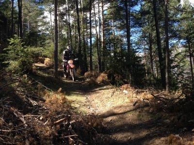 有一天,通过Berguedà的耐力赛路线