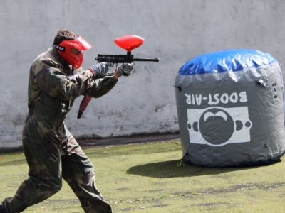 Paintball en Vitoria para empresas 100 bolas
