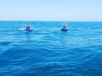 Motos de agua aproximándose al barco