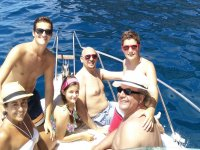 Paseo al atardecer en barco en Tenerife 2h niños