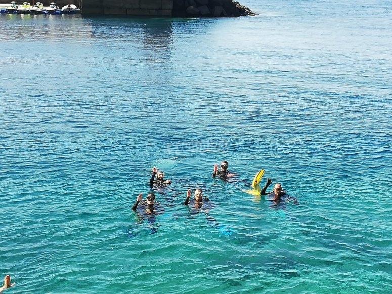 Grupos reducidos para inmersión en Tenerife