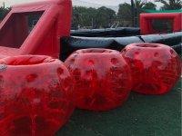 Burbujas gigantes listas para la partida