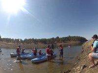 Kayak en el embalse de Gabriel y Galan