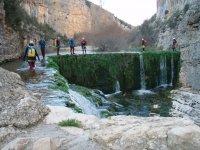 canyoning nella diga naturale