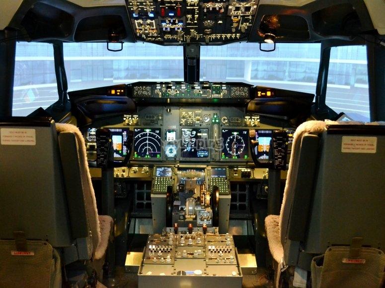 Simulador aéreo en Puerto Banús