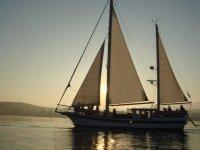 Partiendo con nuestro velero