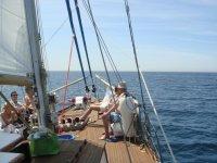 A bordo de Intrépido disfrutando del mar