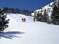 九个处女的滑雪者