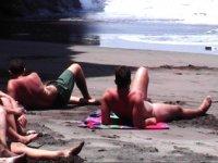 Disfrutando de una agradable jornada de playa