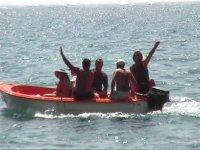 Paseo en barco en alta mar
