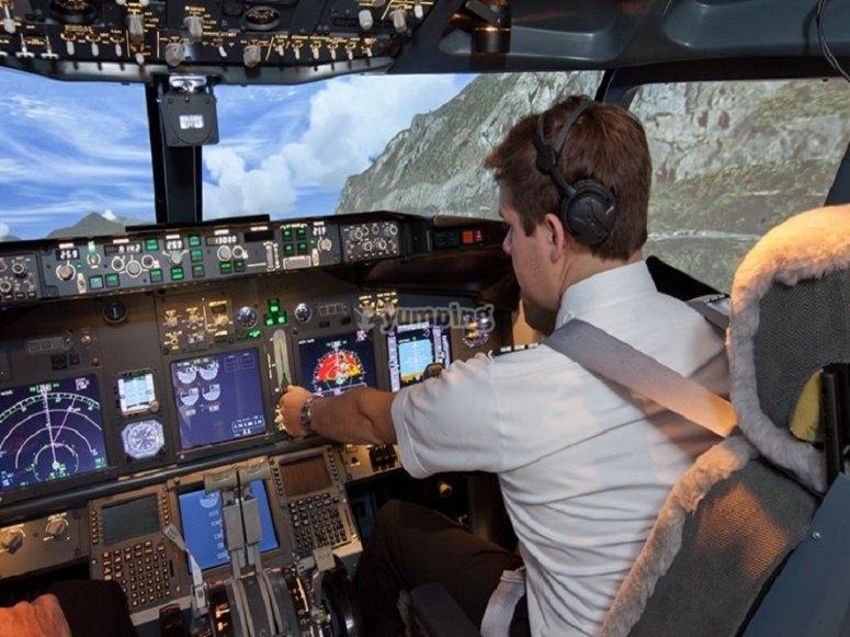 Manejando la aeronave