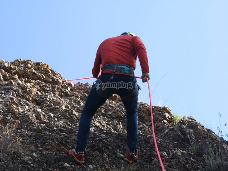 Climing the wall